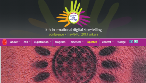 5th Digital storytelling Conference 2013