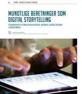 Artikel om Digital Storytelling af Nikoline Lohmann