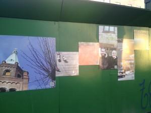 Billeder fra metrohegnet på Enghave Plads